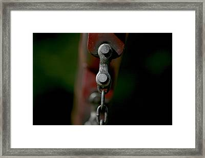 Framed Print featuring the photograph Bolts by Cathy Harper