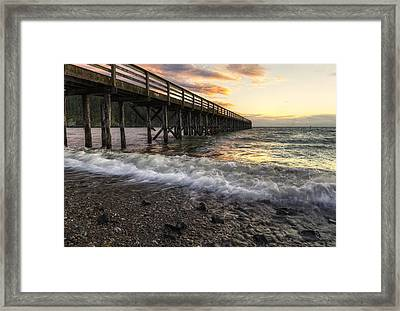 Bowman Bay Sunset 2 Framed Print by Mark Kiver