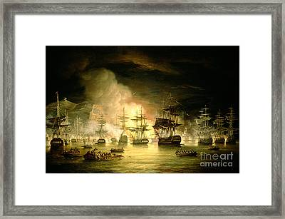 Bombardment Of Algiers Framed Print by Thomas Luny