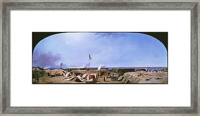 Bombardment Of Fort Moultrie - Charleston Harbor South Carolina Framed Print by Conrad Chapman