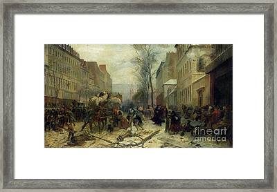 Bombardment Of Paris In 1871 Framed Print