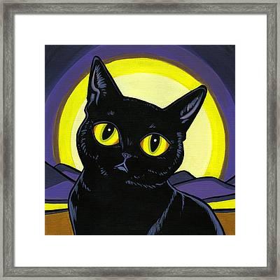 Bombay Moon Framed Print
