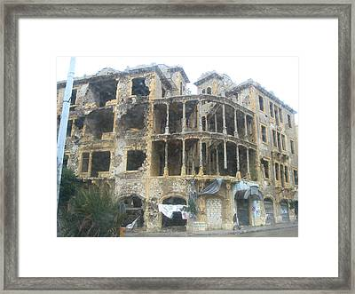 Bombed Out Framed Print by Yvonne Ayoub