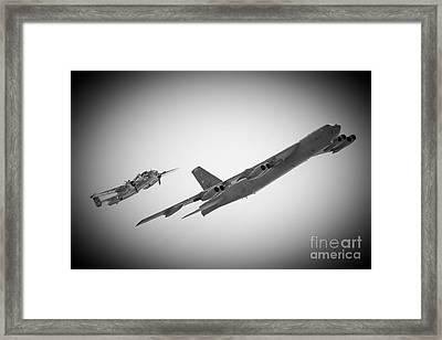 Bomber Pair Framed Print by Bob Mintie