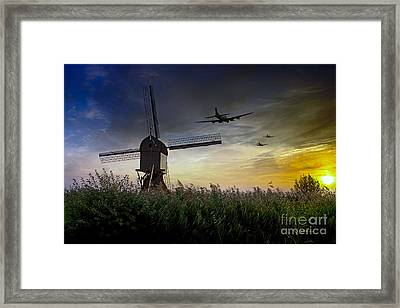 Bombers Run Home Framed Print
