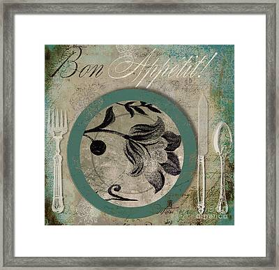 Bon Appetit II Framed Print by Mindy Sommers