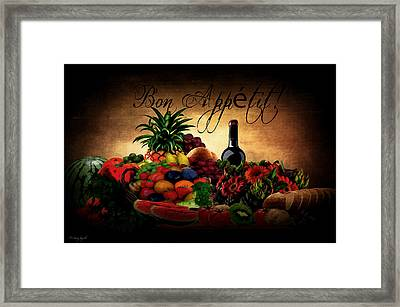 Bon Appetit Framed Print by Lourry Legarde