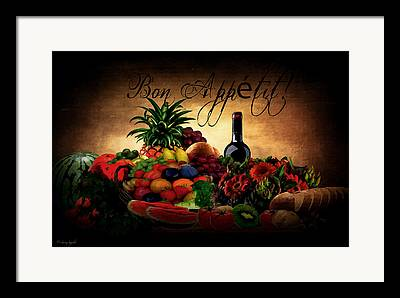 Bread And Wine Framed Prints