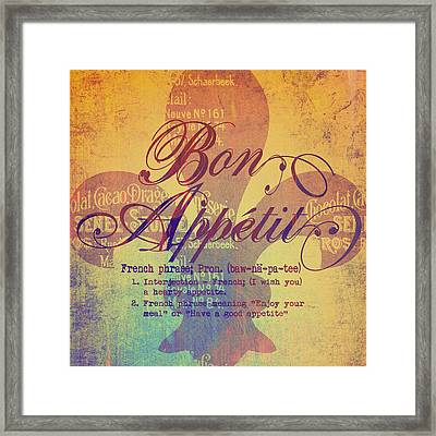 Bon Appetit V2 Framed Print by Brandi Fitzgerald