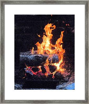 Framed Print featuring the photograph Bon Fire In Fresco by Margie Avellino