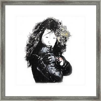 Framed Print featuring the digital art Bon Jovi by Gina Dsgn