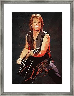 Bon Jovi Framed Print by Semih Yurdabak