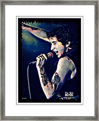 Bon Scott 1973 Framed Print by Scott Wallace