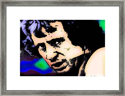 Bon Scott 2 Framed Print by Otis Porritt