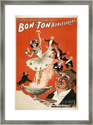 Bon-ton Burlesque Vintage Poster 1 Framed Print