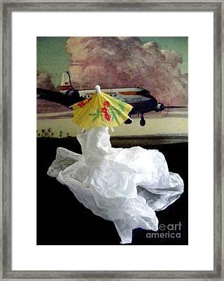 Bon Voyage Mon Ami 2 Framed Print by Nancy Kane Chapman