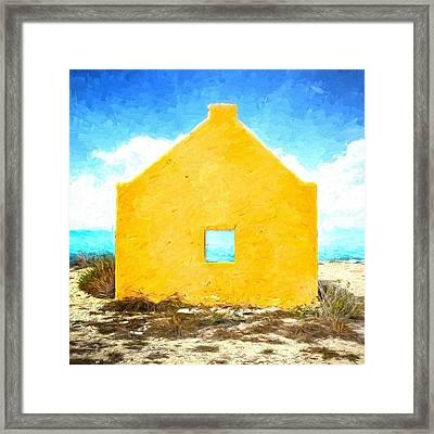 Bonaire Slave Hut Framed Print