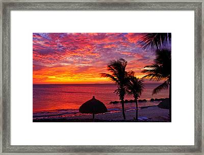 Bonaire Sunset 1 Framed Print by Stephen Anderson