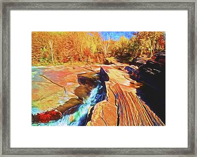 Bonanza Falls Framed Print by Dennis Cox WorldViews