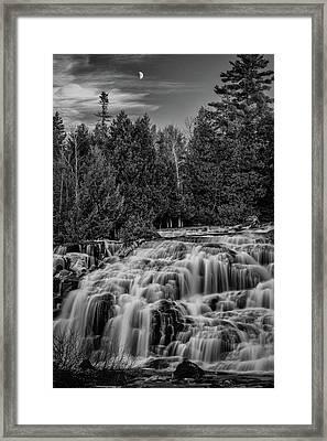 Bond Falls II Bw Framed Print