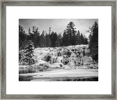 Bond Falls In Black And White Framed Print