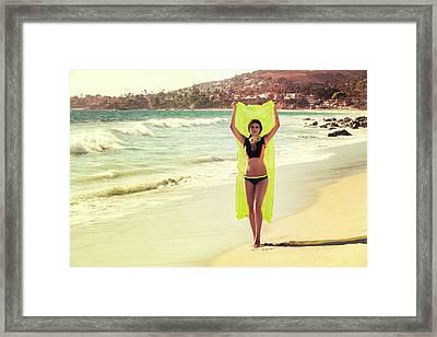 Bond Girl Laguna Beach Framed Print