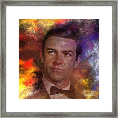 Bond - James Bond - Square Version Framed Print by John Robert Beck