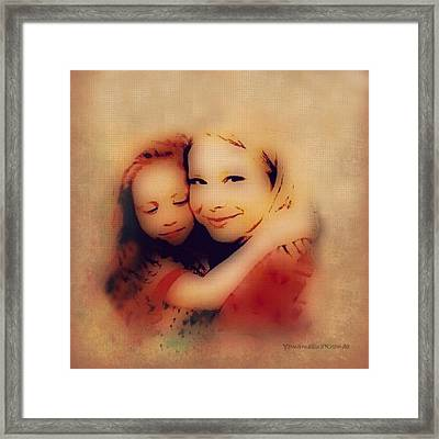 Bond Of Love  Framed Print by YoMamaBird Rhonda