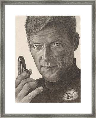 Bond Portrait Framed Print