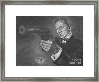 Bond Portrait Number 3 Framed Print