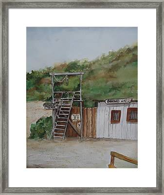 Bondad Colorado Jail Framed Print by Charme Curtin