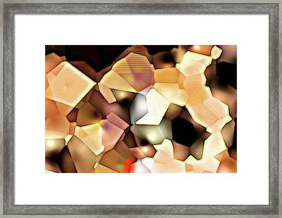 Framed Print featuring the digital art Bonded Shapes by Ron Bissett