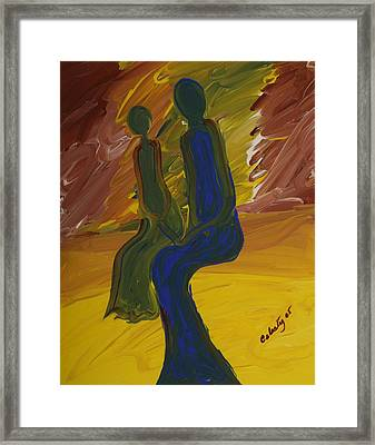 Bonded Spirits Framed Print by Celesty  Claudio