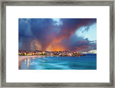 Bondi Pastels Framed Print by Sean Davey