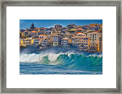 Bondi Waves Framed Print by Az Jackson