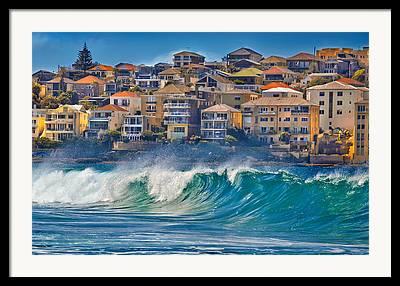 Ocean Front Landscape Framed Prints