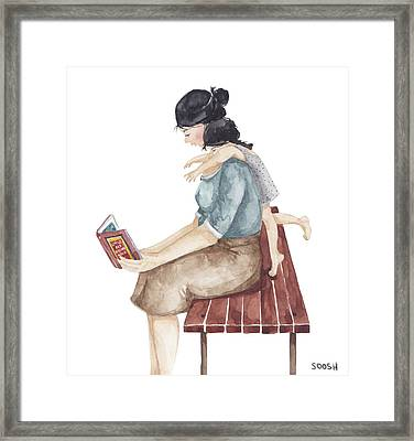 Bonding Time V2 Framed Print by Soosh