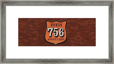 Bonds 756 Framed Print by Karthik Thyagarajan