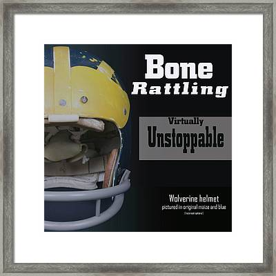 Bone Rattling Virtually Unstoppable Framed Print