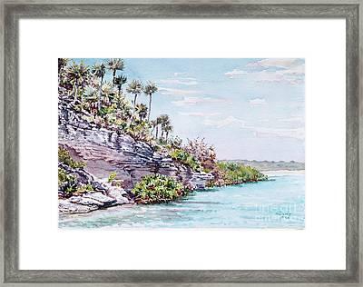 Bonefish Creek Watercolour Study Framed Print