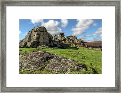 Bonehill Rocks - Dartmoor Framed Print