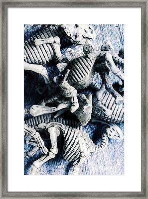 Bones From A Mass Extinction Event Framed Print