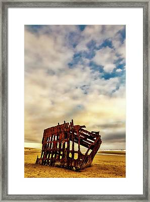 Bones Of A Shipwreck Framed Print by Garry Gay