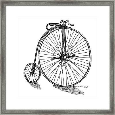 Boneshaker Bicycle Framed Print by Karl Addison