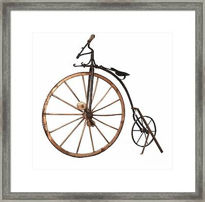 Boneshaker Bike Framed Print by Pg Reproductions