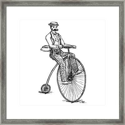 Boneshaker Velocipede Bicycle Framed Print by Karl Addison