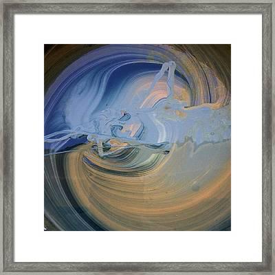 Boney Grandma Flight Framed Print by Gyula Julian Lovas