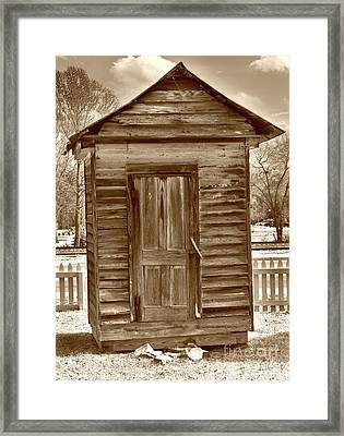 Boney Milk Shed Framed Print by Skip Willits