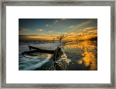 Boneyard Sunset Framed Print