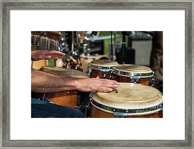 Bongo Hand Drums Framed Print